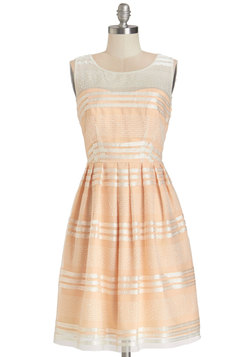 Fanciful Flair Dress in Peach