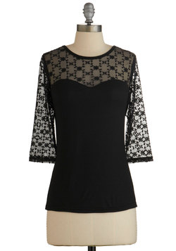 Lovable at First Sight Top in Black