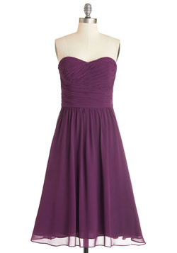 Luminous and Lovely Dress in Plum