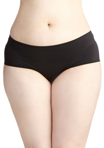 Morning Moxie Undies in Plus Size - Satin, Knit, Black, Solid, Minimal, Basic