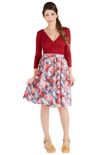 Adept Apprentice Skirt by Bea & Dot - Mid-length, Woven, Casual, Full, Spring, Summer, Multi, Multi, Floral, Pockets, Exclusives, Private Label, Press Placement