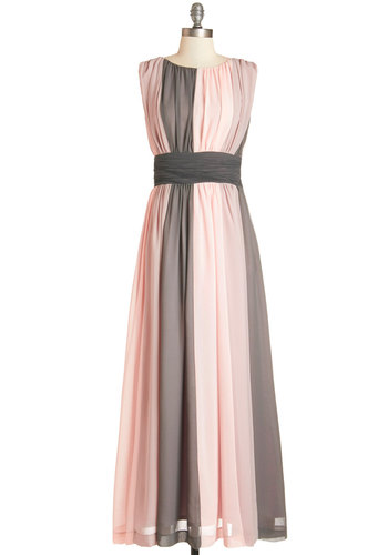 Evolution of Enchantment Dress - Long, Chiffon, Woven, Pink, Grey, Maxi, Sleeveless, Better, Special Occasion, Prom, Wedding, Pastel, Exclusives, Colorblocking, Top Rated, Full-Size Run, Valentine's, Private Label