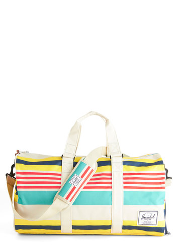 Tranquil Travels Weekend Bag by Herschel Supply Co. - Stripes, Multi, Casual, Travel, Summer