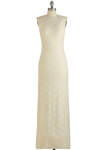 Ours Everlasting Dress - Cream, Solid, Crochet, Lace, Special Occasion, Prom, Wedding, Bride, Maxi, Sleeveless, Summer, Woven, Lace, Better, Scoop, Long, WPI
