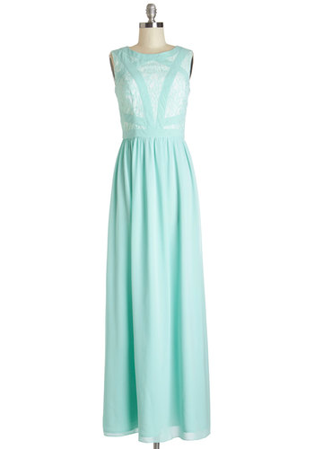 Magnificent to the Max-i Dress by Chi Chi London - Mint, Lace, Trim, Special Occasion, Wedding, Bridesmaid, Pastel, Maxi, Sleeveless, Summer, Woven, Better, Scoop, Long, Pleats