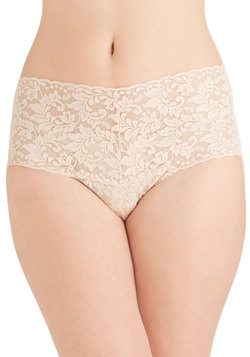 Hanky Panky Mellow Mornings Thong in Beige