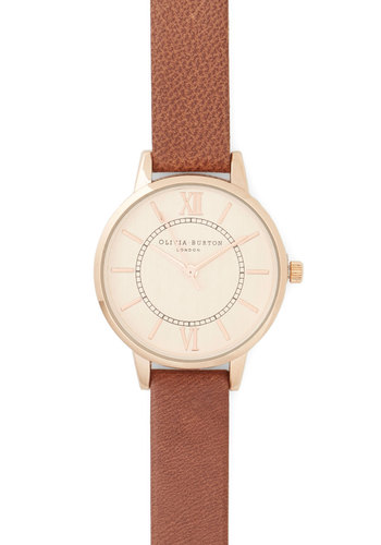 Elegant in Any Occasion Watch in Bark by Olivia Burton - Brown, Solid, Luxe, Gold, International Designer, Brown, Leather, Variation