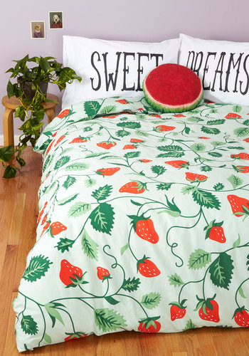Lull Me to Sweet Duvet Cover in Full/Queen - Multi, Food, Best, Red, Green, Novelty Print, Fruits, Exclusives