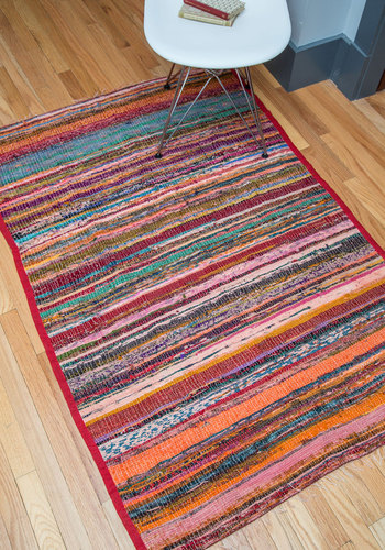 You're Sprawl Invited Rug in Rosewashed - 3x5 by Karma Living - Woven, Multi, Boho, Dorm Decor, Better, Summer