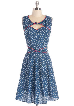 Good Ol' Daisy Dress in Blue Bouquet
