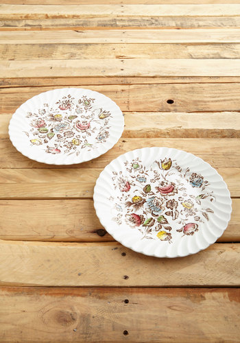 Vintage Quiche to My Heart Plate Set