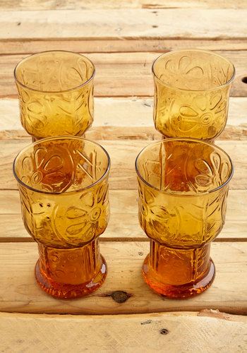 Vintage Clink About It Glass Set
