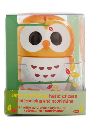Sweet and Soft Hand Cream in Lemon Verbena - Yellow, Solid, Quirky, Critters, Owls, Kawaii, Under $20, Woodland Creature