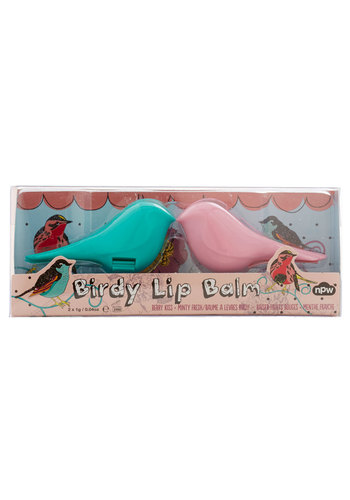 Ever So Tweet Lip Balm Set - Multi, Quirky, Critters, Basic, Blue, Pink, Kawaii, Gals, Under $20, Bird, Woodland Creature