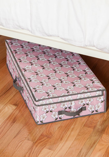 Room Fleur More Storage Box - Woven, Multi, Floral, Dorm Decor, Good, Pink, Grey, Under $20