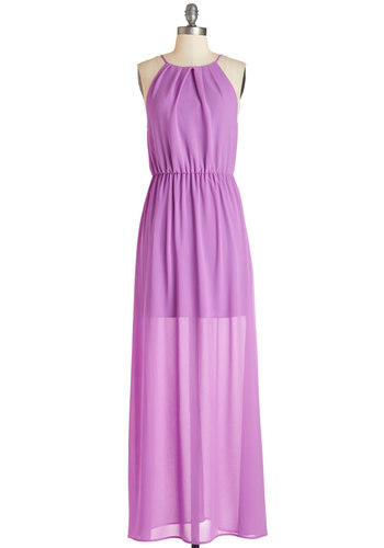 Bungalow Bash Dress - Purple, Solid, Daytime Party, Maxi, Sleeveless, Summer, Woven, Good, Halter, Long