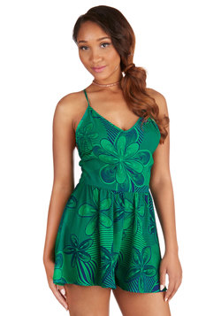 Abstract Garden Romper