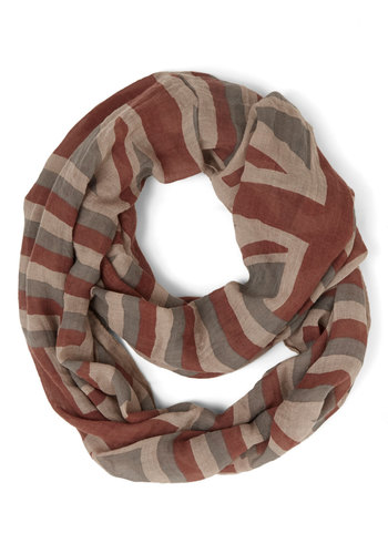 London Calling My Name Scarf - Print, Casual, Blue, Cotton, Sheer, Woven, Multi, Red, Tan / Cream, Grey, Novelty Print, Fall, Winter