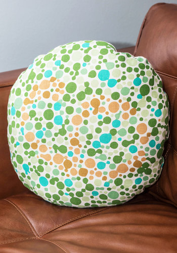 Artistic Vision Pillow - Multi, Nifty Nerd, Good, Dorm Decor, Novelty Print