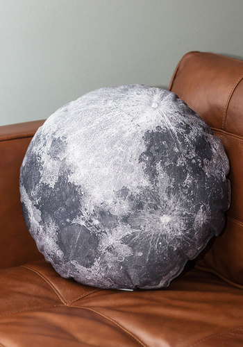 Soft Side of the Moon Pillow - Multi, Cosmic, Better, Dorm Decor, Nifty Nerd