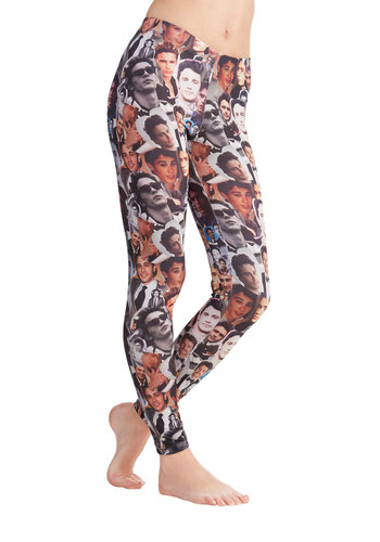 To Be Franco Leggings - Skinny, Best, Mid-Rise, Full length, Black, Multi, Novelty Print, Urban, Quirky, Lounge