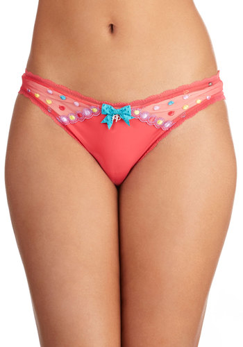 Are You Confetti Yet? Undies by Pretty Polly - Sheer, Satin, Knit, Pink, Polka Dots, Bows, Statement, Multi, Embroidery, Trim, Luxe, Boudoir, Darling