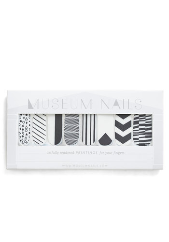And Mani More Nail Sticker Set in Monochrome - Casual, Minimal, Black, White, Print, Variation, Halloween