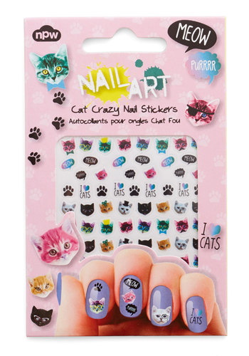 Claw-Inspiring Art Nail Stickers - Multi, Darling, Critters, Print with Animals, Novelty Print, Quirky, Cats