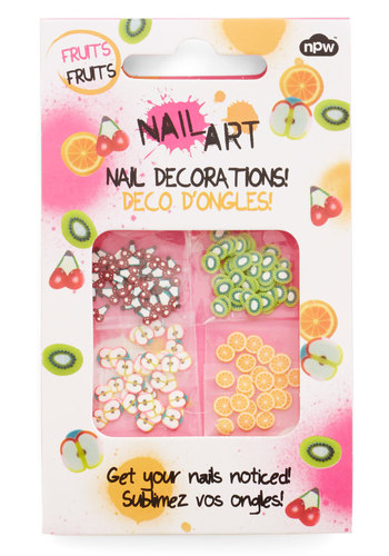 Freshly Manicured Nail Stickers - Multi, Quirky, Food, Basic, Novelty Print, Fruits