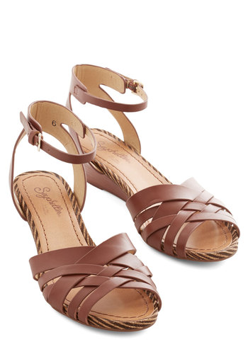 Little Closer Wedge in Whiskey by Seychelles - Mid, Leather, Brown, Daytime Party, Wedge, Variation