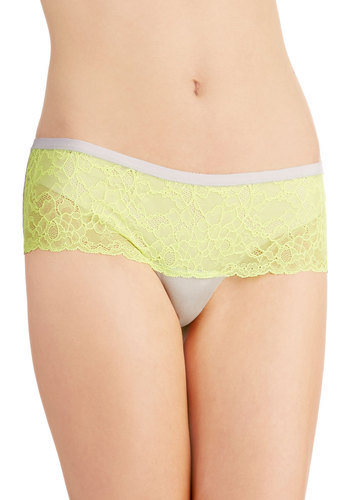 Tone Matching Undies in Lemon Mist by Honeydew Intimates - Yellow, Solid, Lace, Boudoir, Grey, Pastel