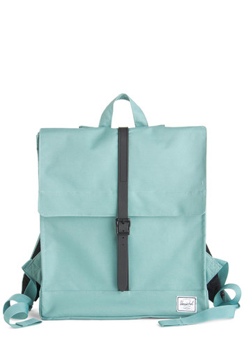 Thoroughfare and Square Backpack by Herschel Supply Co. - Blue, Black, Solid, Minimal, Travel, Scholastic/Collegiate, Fall
