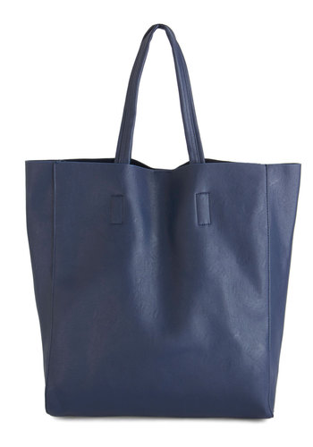 Tote's Amaze Bag - Blue, Solid, Work, Minimal, Basic, Faux Leather, Travel, Nautical, Urban, Fall, Winter