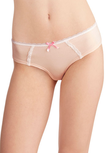 Delicate at Daybreak Undies by Honeydew Intimates - Pink, White, Solid, Bows, Lace, Boudoir, Darling, Pastel