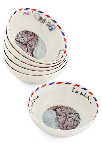 Arise and Dine! Bowl Set by Disaster Designs - Multi, Travel, Better, Novelty Print