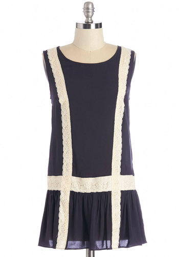 Tender Trimmings Tunic - Long, Woven, Lace, Blue, Solid, Lace, Work, Sleeveless, Blue, Sleeveless, Tan / Cream, Casual, Scoop