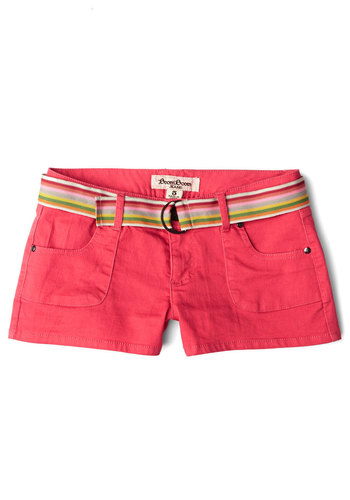 Ready to Froyo Shorts - Spring, Summer, Good, Low-Rise, Pink, Short, Knit, Pink, Solid, Pockets, Belted, Casual, Beach/Resort, Neon, Short