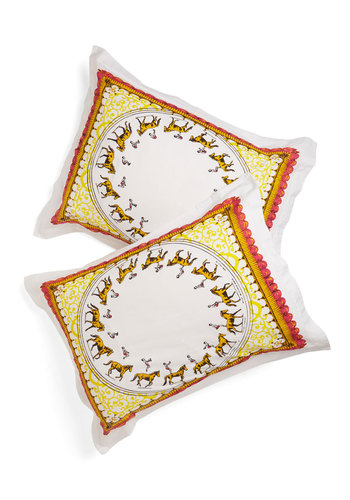 Entertain the Idea Pillow Sham Set - Multi, Fairytale, Steampunk, Better, Boho, Novelty Print, Dorm Decor, Quirky, Exclusives