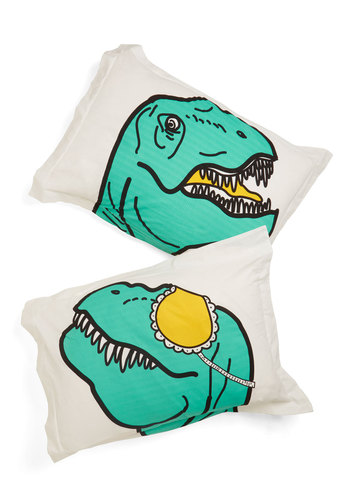 Dino What You Did Last Slumber Pillow Sham Set - Multi, Quirky, Better, Print with Animals, Dorm Decor, Exclusives