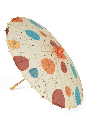 Ferris Pinwheel Parasol - Multi, Boho, Quirky, Darling, Festival, Print, Vintage Inspired, Summer