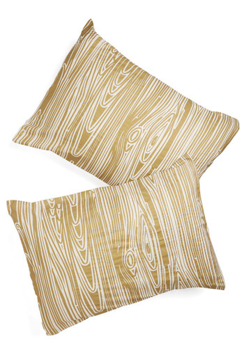 Go With the Grain Pillowcase Set - Gold, Rustic, Better, Woven, Cotton, Novelty Print, Exclusives