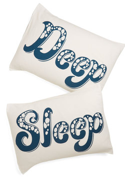 Deep Blue Sleep Pillowcase Set