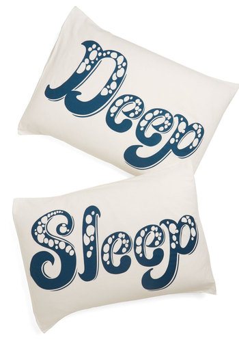 Deep Blue Sleep Pillowcase Set - Multi, Nautical, Better, Cotton, Woven, Blue, Novelty Print, Dorm Decor, Exclusives