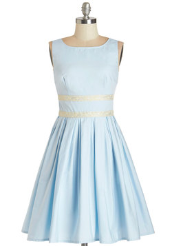 Convivial Pursuit Dress in Powder Blue