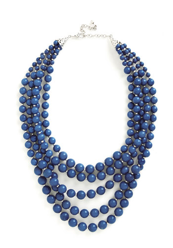 You Bijou Necklace in Sapphire - Blue, Solid, Beads, Variation