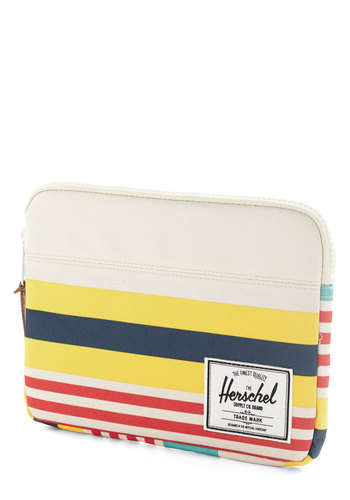Tranquil Travels iPad Air Sleeve by Herschel Supply Co. - Stripes, Travel, Multi, Work