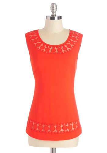 Caliente On Me Top - Mid-length, Woven, Red, Solid, Party, Girls Night Out, Sleeveless, Red, Sleeveless, Scoop