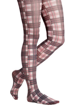 Plaid to the Conversation Tights