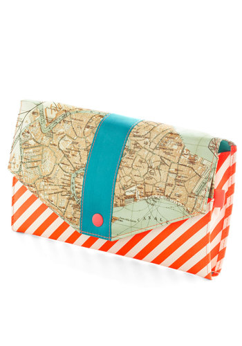 Here and Canal Travel Wallet - Multi, Travel, Better, Stripes, Novelty Print