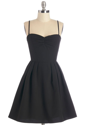 LBDream Dress - Black, Solid, Lace, Pleats, Special Occasion, Prom, Party, LBD, A-line, Strapless, Woven, Better, Sweetheart, Lace, Cocktail, Spaghetti Straps, Mid-length
